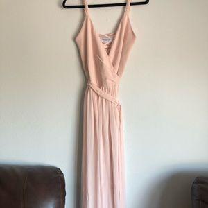 Light Pink/Blush Maxi Wrap Dress